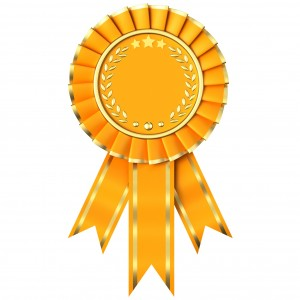 Yellow Ribbon Award isolated on white background