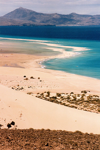 Fuerteventura is the island with the longest beaches. It is separated from Africa by only a narrow channel- The areas of Spain