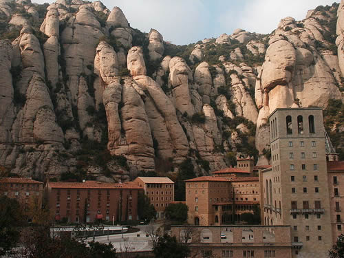 The monastery at Montserrat in Catalonia, Spain. Photo by Gyrofrog